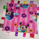 Disney Minnie Mouse Flowers Pink Fleece Ribbon Blanket Baby Girl Shower Gift Toy