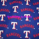 Texas Rangers Fabric Cotton MLB Baseball Blue Craft Quilt Out of Print Rare BTY