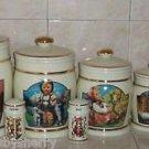 M J Hummel Canister Set Salt Pepper Shakers Cookie Jar Danbury Mint Vintage