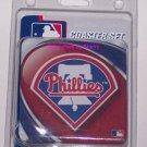 Philadelphia Phillies Coasters Baseball 4-Pack Glass Can Bottle MLB Great Gift