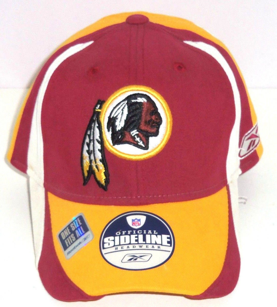 e3b14fbdb65 Washington Redskins Hat Cap Sideline Reebok NFL Football New