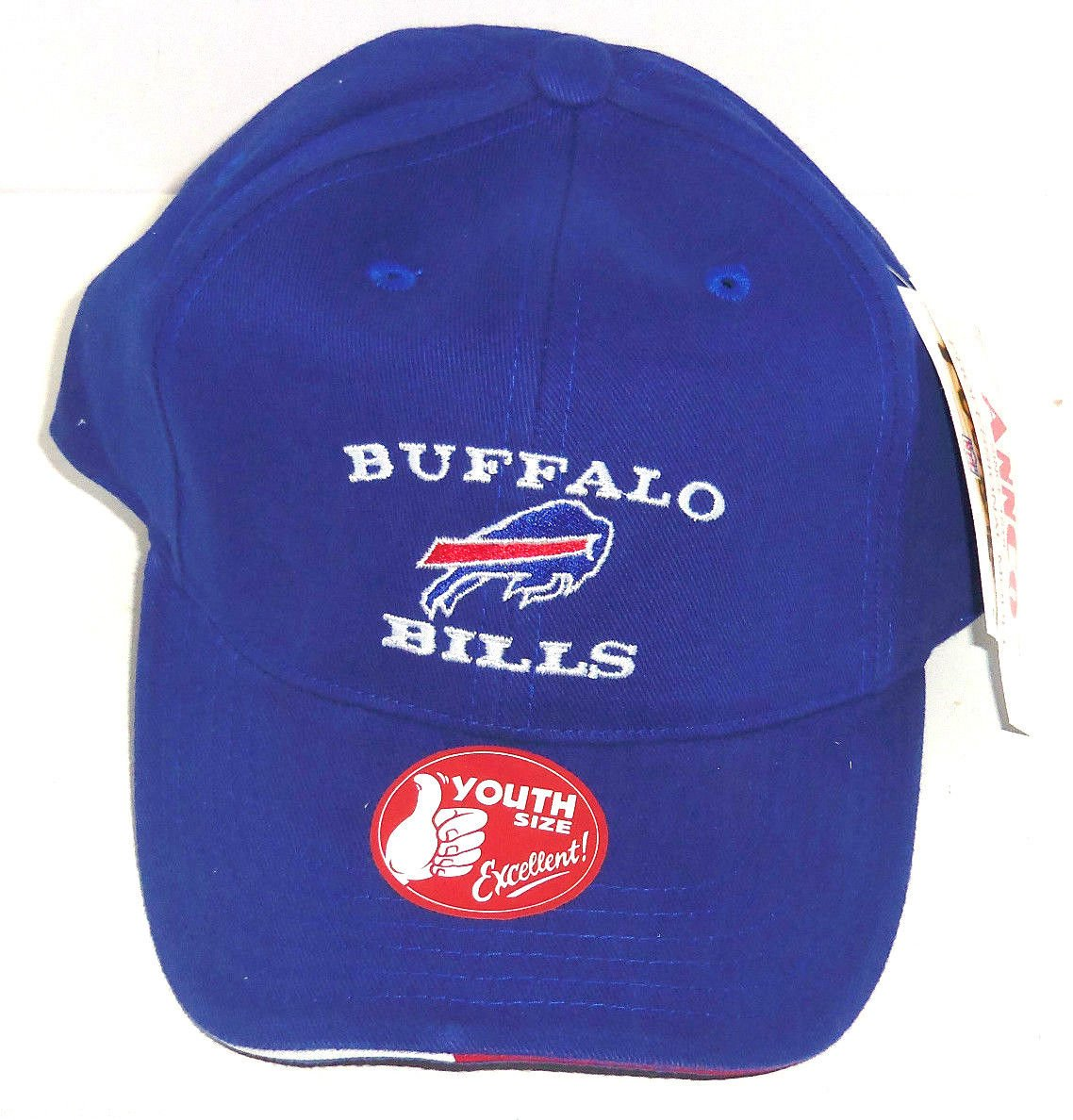 baec287a Buffalo Bills Hat Blue Youth Kids Adjustable Cap NWT NFL Football