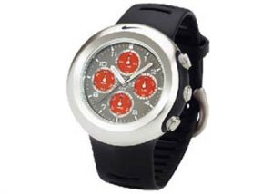 WA0022-029  Nike Men's Oregon Chronograph / Black Rubber Strap Watch
