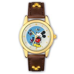 Disney Mickey Mouse Leather Strap Watch, MU2390, Seiko Brand