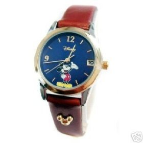 Disney Mickey Mouse Brown Leather Strap Watch, MU0937, 30 Meter, Seiko Brand