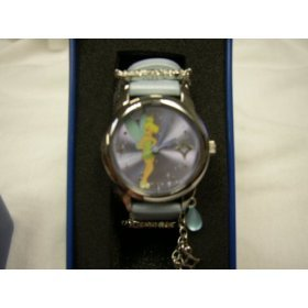"Disney ""Tinkerbell"" Light Blue Strap Watch, MU2392, SPECIAL, Seiko Brand"