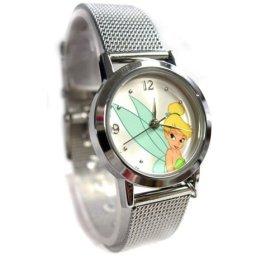 Disney Tinkerbell Silvertone Mesh Bracelet Watch, MU1348, Seiko Brand, SPECIAL