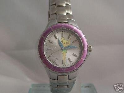 Disney Tinkerbell Silvertone Bracelet Watch, MU2413, Seiko Brand