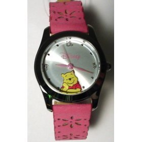 Disney Winnie the Pooh Pink Leather Strap Watch, MU1244, SPECIAL, Seiko Brand, 30 Meters