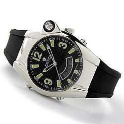 CA301099BSBK Croton Men�s Analog & Digital Rubber Strap Watch