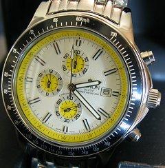 CC311093SSYL Croton Men's 'Chronomaster' 3-Eye Chronograph Watch