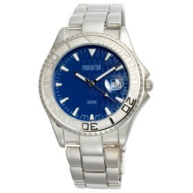 Manahattan by Croton Mens Blue Dial / Bracelet Watch CM304143SLBL