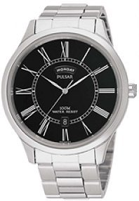 PULSAR MENS WATCH STAINLESS QUARTZ DAY DATE PXN069