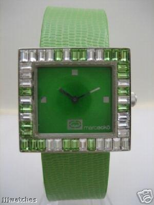 Marc Ecko Ice Cube Emerald Crystal Watch Lady E85015L1