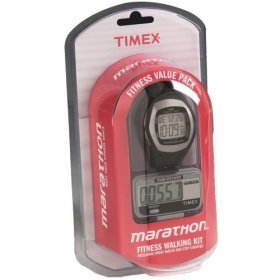 Timex T5F961 Men's Fitness Value Pack Includes Timex Marathon WATCH and PEDOMETER