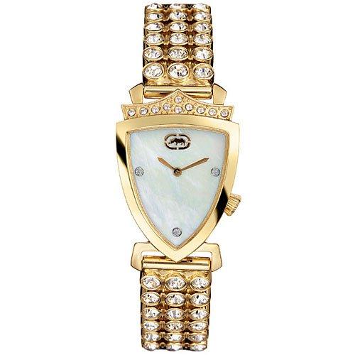 Marc Ecko Crest Ladies MOP Dial Gold Tone Bracelet E17515L1