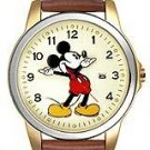 Disney Unisex Leather Band Hands Watch MU0942