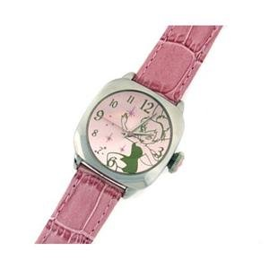 DISNEY TINKERBELL ANALOG LEATHER STRAP WATCH MU1239