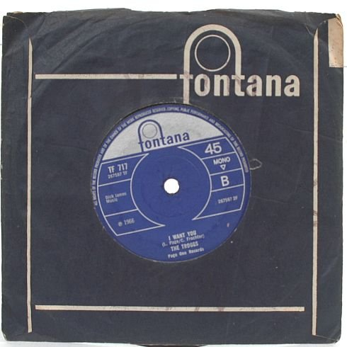 "THE TROGGS I Want You FONTANA 1966 7"" 45 RPM MONO"