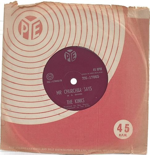 "THE KINKS Victoria NEW ZEALAND PYE 7"" 45 RPM"