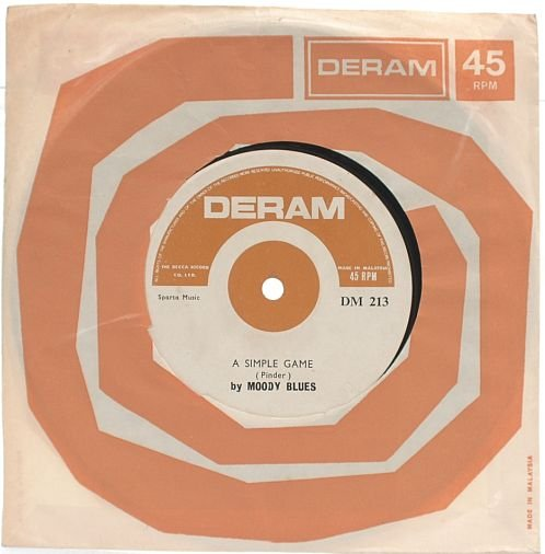 "MOODY BLUES Ride My See-Saw MALAYSIA 7"" DERAM 45 RPM"