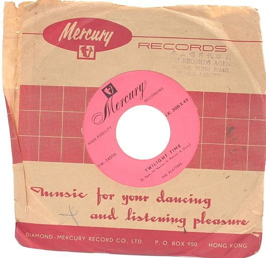 THE PLATTERS Twilight Time HONG KONG Mercury 7""