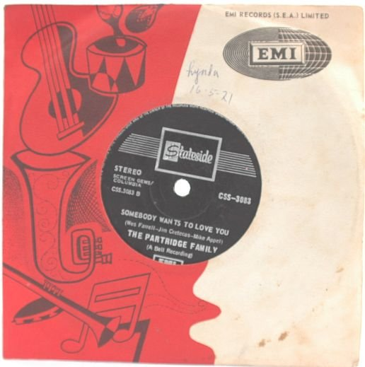PARTRIDGE FAMILY I love You INTERNATIONAL EMI 7""
