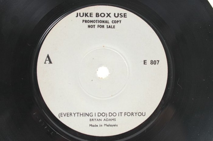 BRYAN ADAMS Everything I do KENNY ROGERS MALAYSIA Jukebox 7""
