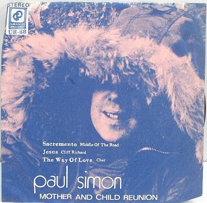 "PAUL SIMON Mother Child CLIFF RICHARD 7"" PS EP - ASIA"