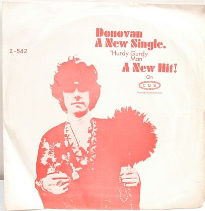 "DONOVAN Hurdy Gurdy Man 7"" Picture Sleeve CBS Asia"