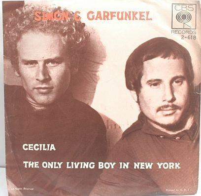 "SIMON & GARFUNKEL Cecilia CBS ASIA INTERNATIONAL 7"" PS"