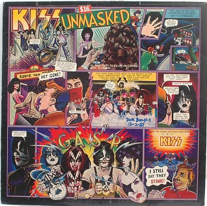 KISS Unmasked 1980 MALAYSIA LP RECORD
