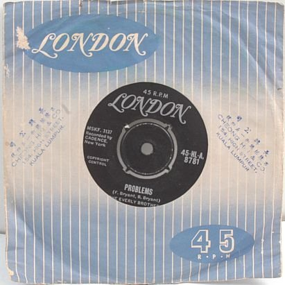 "EVERLY BROTHERS Love Of My Life 7"" SP London INDIA"