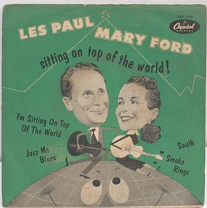 "LES PAUL & MARY FORD Top Of The World 7"" PS EP England"