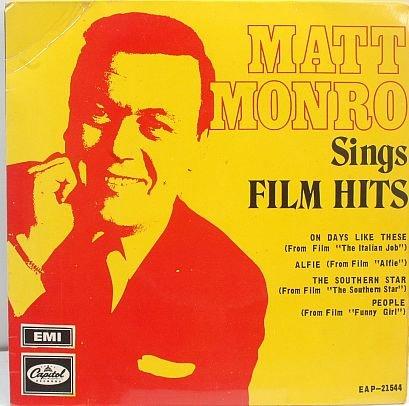 "MATT MONRO Sing Film Hits MALAYSIA 7"" PS EP"
