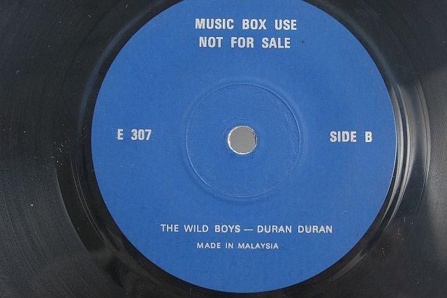 "Vintage DURAN DURAN Wild Boys 7"" MALAYSIA PROMO 45 Rpm"