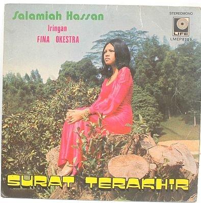 """SALAMIAH HASSAN Surat Terakhir 60s MALAY POP 7"""" PS EP"""