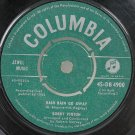 "BOBBY VINTON Rain Go Away 1962 7"" SP 45 RPM India"