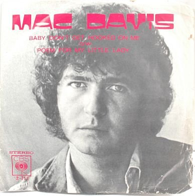 "MAC DAVIS Hooked On Me 7"" SP PS CBS Malaysia"