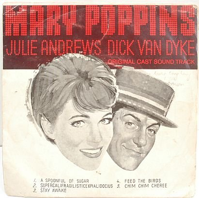 "MARY POPPINS OST Julie Andrews 7"" EP PS SE Asia"
