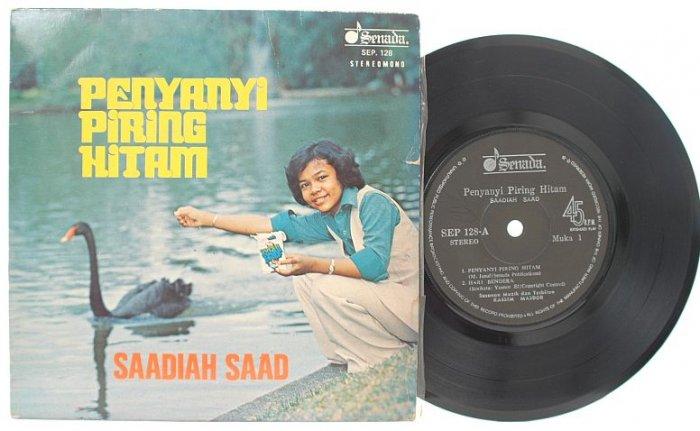 "Malay 70s Pop SAADIAH SAAD Penyanyi Piring Hitam 7"" PS"