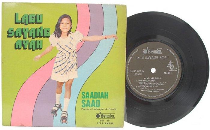 "Malay 70s Pop SAADIAH SAAD Lagu Ayah Sayang 7"" PS EP"