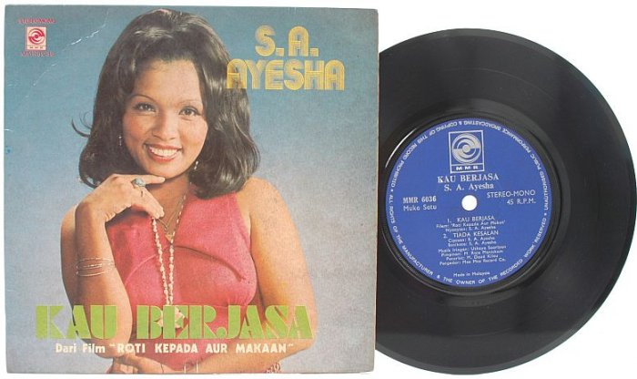 "Malay 70s Pop S.A. Ayesha Kau Berjasa 7"" PS EP"