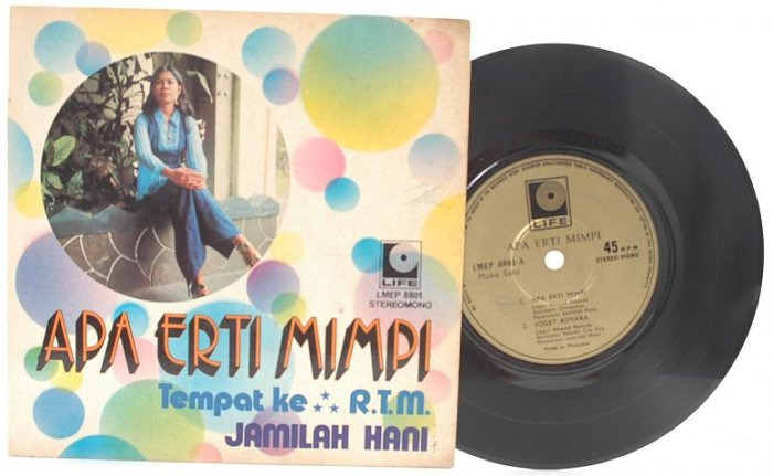 "Malay 70s Pop JAMILAH HANI Erti Mimpi 7"" 45 RPM PS"