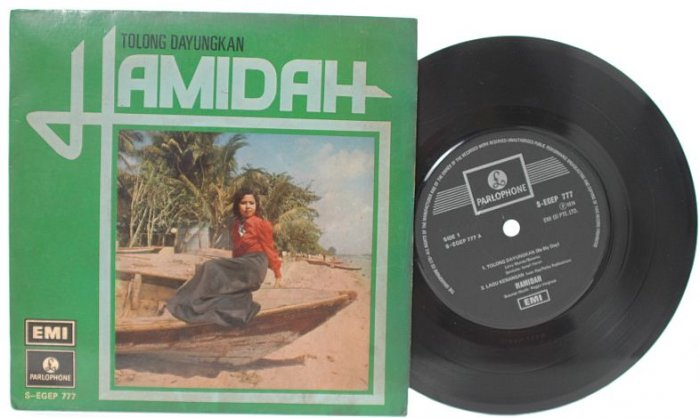"Malay 70s POP HAMIDAH Tolong Dayungkan 7"" PS EP"