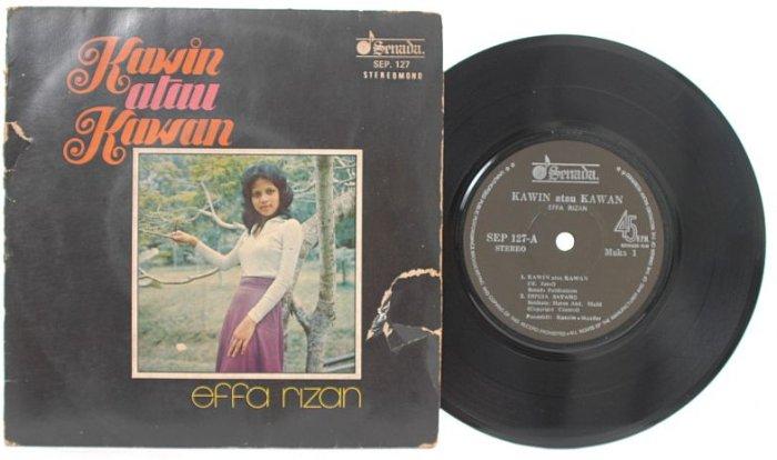 "Malay 70s POP EFFA RIZAN Kawin Atau Kawan 7"" PS EP"