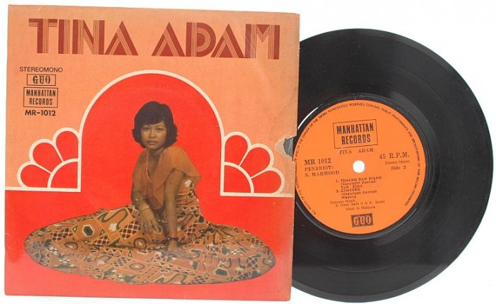 "Malay 70s POP TINA ADAM Godaan Hati 7"" PS EP"