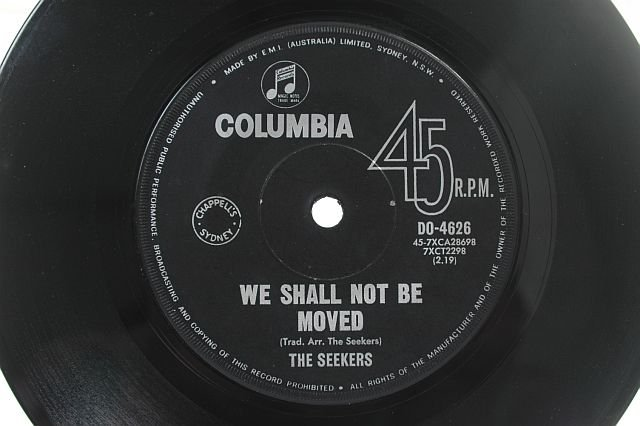 """THE SEEKERS Carnival Is Over AUSSIE OZ 7"""" 45 RPM"""