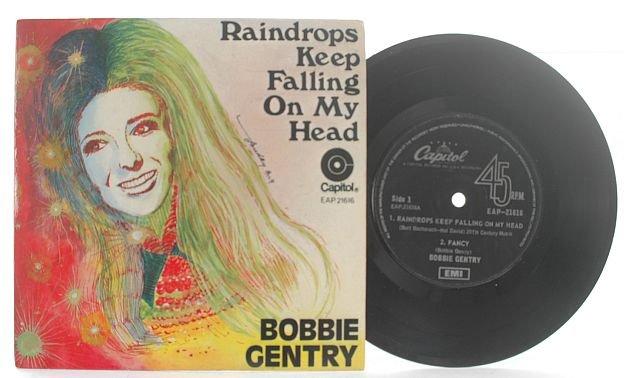 "BOBBY GENTRY Raindrops EMI MALAYSIA 7"" PS EP Fredy Ang"
