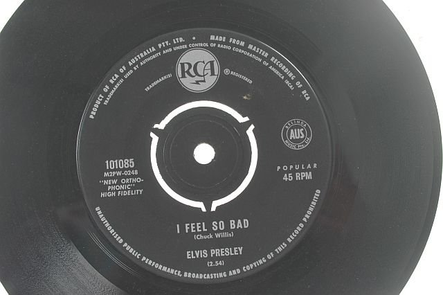 ELVIS PRESLEY I feel So Bad AUSTRALIA RCA 7""